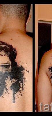 Фото тату обезьяна как пример для статьи про значение татуировки – tatufoto.ru – 18