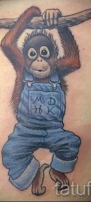 Фото тату обезьяна как пример для статьи про значение татуировки – tatufoto.ru – 21