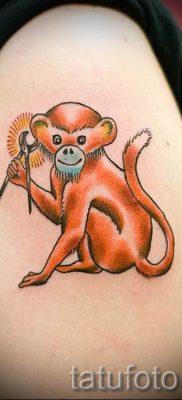 Фото тату обезьяна как пример для статьи про значение татуировки – tatufoto.ru – 30