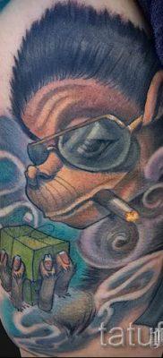 Фото тату обезьяна как пример для статьи про значение татуировки – tatufoto.ru – 34