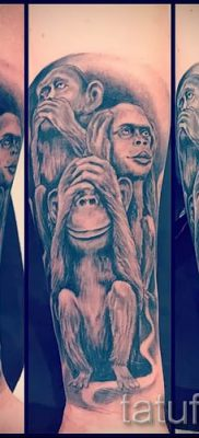 Фото тату обезьяна как пример для статьи про значение татуировки – tatufoto.ru – 36