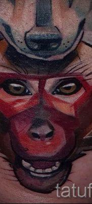 Фото тату обезьяна как пример для статьи про значение татуировки – tatufoto.ru – 38