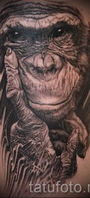 Фото тату обезьяна как пример для статьи про значение татуировки – tatufoto.ru – 51