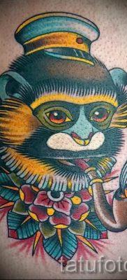 Фото тату обезьяна как пример для статьи про значение татуировки – tatufoto.ru – 52