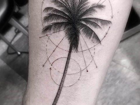 Фото тату пальма для статьи про значение татуировки пальма - tatufoto.ru - 53