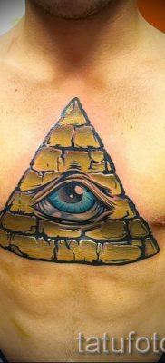 Фото тату пирамида для статьи про значение татуировки с пирамидой – tatufoto.ru – 16