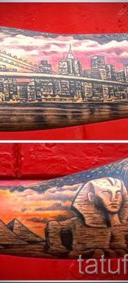 Фото тату пирамида для статьи про значение татуировки с пирамидой – tatufoto.ru – 17