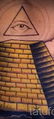 Фото тату пирамида для статьи про значение татуировки с пирамидой – tatufoto.ru – 23