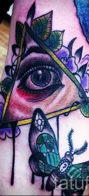 Фото тату пирамида для статьи про значение татуировки с пирамидой – tatufoto.ru – 24