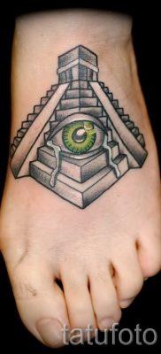 Фото тату пирамида для статьи про значение татуировки с пирамидой – tatufoto.ru – 25