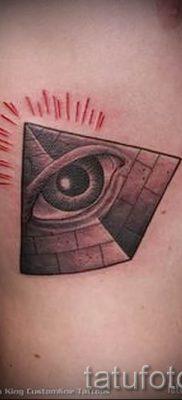 Фото тату пирамида для статьи про значение татуировки с пирамидой – tatufoto.ru – 26