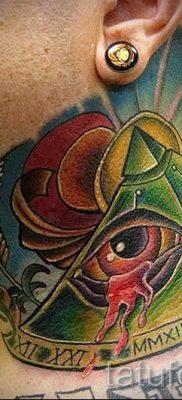 Фото тату пирамида для статьи про значение татуировки с пирамидой – tatufoto.ru – 29