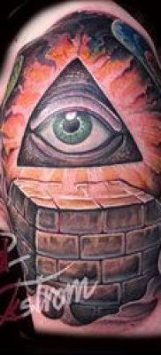 Фото тату пирамида для статьи про значение татуировки с пирамидой – tatufoto.ru – 30