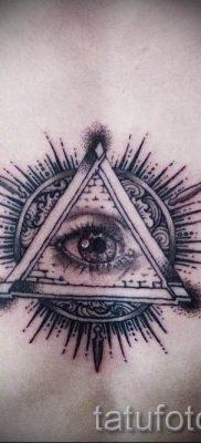 Фото тату пирамида для статьи про значение татуировки с пирамидой – tatufoto.ru – 32
