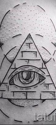 Фото тату пирамида для статьи про значение татуировки с пирамидой – tatufoto.ru – 34