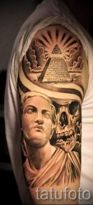 Фото тату пирамида для статьи про значение татуировки с пирамидой – tatufoto.ru – 37