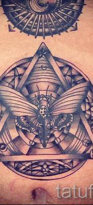 Фото тату пирамида для статьи про значение татуировки с пирамидой – tatufoto.ru – 40