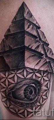 Фото тату пирамида для статьи про значение татуировки с пирамидой – tatufoto.ru – 44