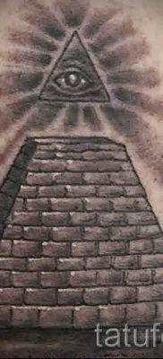 Фото тату пирамида для статьи про значение татуировки с пирамидой – tatufoto.ru – 48