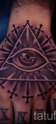 Фото тату пирамида для статьи про значение татуировки с пирамидой – tatufoto.ru – 55