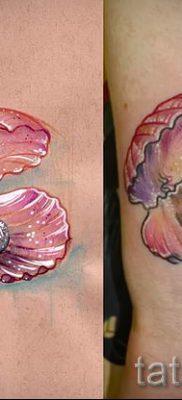 Фото тату ракушка для статьи про значение ракушки в татуировке – tatufoto.ru – 9