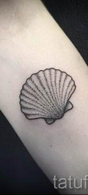Фото тату ракушка для статьи про значение ракушки в татуировке – tatufoto.ru – 14