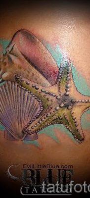 Фото тату ракушка для статьи про значение ракушки в татуировке – tatufoto.ru – 17