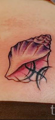 Фото тату ракушка для статьи про значение ракушки в татуировке – tatufoto.ru – 25