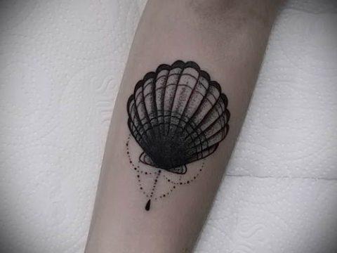 Фото тату ракушка для статьи про значение ракушки в татуировке - tatufoto.ru - 39