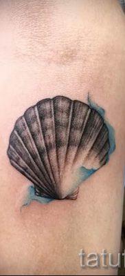 Фото тату ракушка для статьи про значение ракушки в татуировке – tatufoto.ru – 80