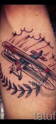 Фото тату самолет для статьи про значение татуировки с самолет – tatufoto.ru – 10