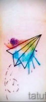 Фото тату самолет для статьи про значение татуировки с самолет – tatufoto.ru – 11