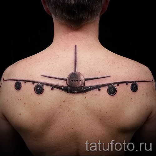 фото самолет тату