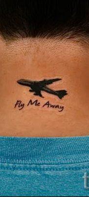 Фото тату самолет для статьи про значение татуировки с самолет – tatufoto.ru – 23