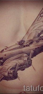 Фото тату самолет для статьи про значение татуировки с самолет – tatufoto.ru – 50