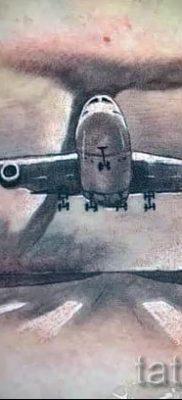 Фото тату самолет для статьи про значение татуировки с самолет – tatufoto.ru – 58