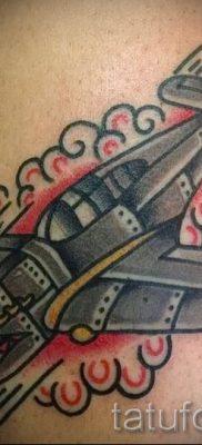 Фото тату самолет для статьи про значение татуировки с самолет – tatufoto.ru – 63