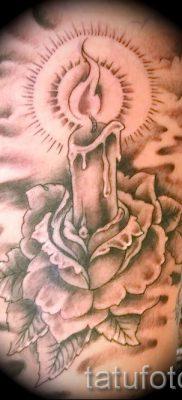 Фото тату свеча для статьи про значение татуировки со свечей – tatufoto.ru – 15