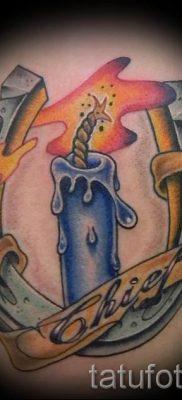 Фото тату свеча для статьи про значение татуировки со свечей – tatufoto.ru – 16