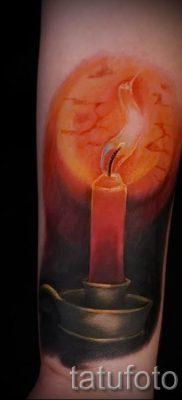 Фото тату свеча для статьи про значение татуировки со свечей – tatufoto.ru – 25