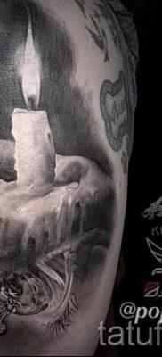 Фото тату свеча для статьи про значение татуировки со свечей – tatufoto.ru – 26