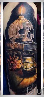 Фото тату свеча для статьи про значение татуировки со свечей – tatufoto.ru – 32