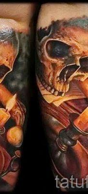 Фото тату свеча для статьи про значение татуировки со свечей – tatufoto.ru – 35