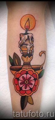 Фото тату свеча для статьи про значение татуировки со свечей – tatufoto.ru – 39