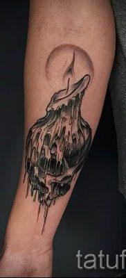 Фото тату свеча для статьи про значение татуировки со свечей – tatufoto.ru – 56