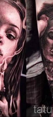 Фото тату свеча для статьи про значение татуировки со свечей – tatufoto.ru – 58