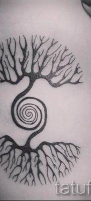 Фото тату спираль для статьи про значение татуировки с этим рисунком – tatufoto.ru – 19