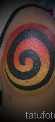 Фото тату спираль для статьи про значение татуировки с этим рисунком – tatufoto.ru – 53