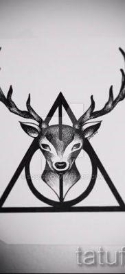 Фото тату тату дары смерти для статьи про значение рисунка татуировки – tatufoto.ru – 25