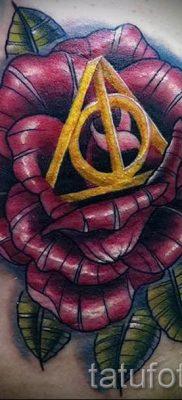 Фото тату тату дары смерти для статьи про значение рисунка татуировки – tatufoto.ru – 55